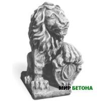 Статуя Лев11 с гербом