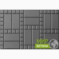 Форма тротуарной плитки 75х50 Кирпич с мозаикой №01