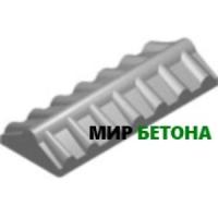 Форма Парапет для забора Черепица узкая 0,5м