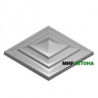 Форма Крышка для столба Квадратная трехъярусная