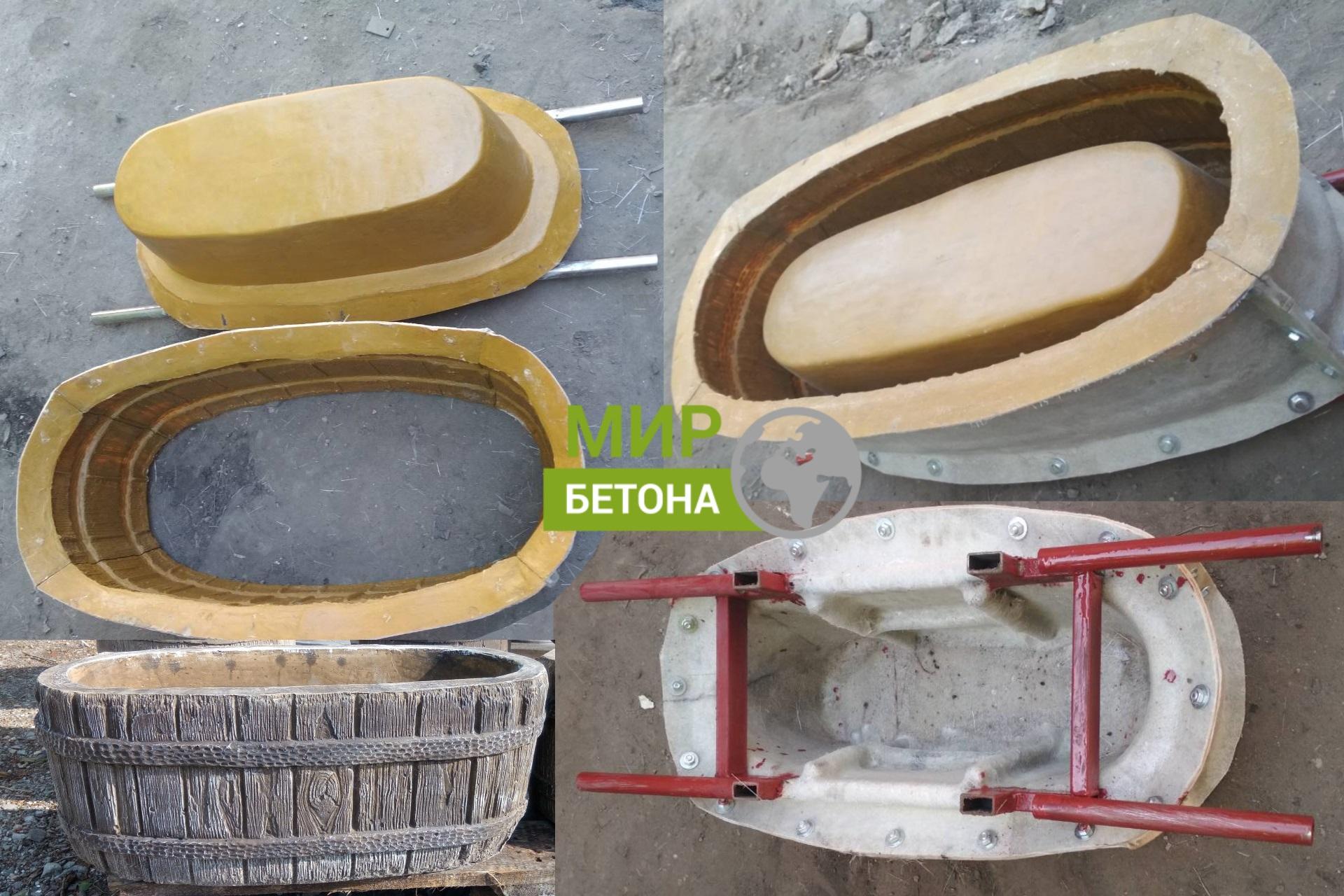 Форма для производства бетонных уличных вазонов