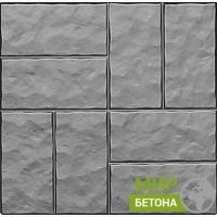Форма тротуарной плитки 40х40 колотый камень 8 кирпичей №05