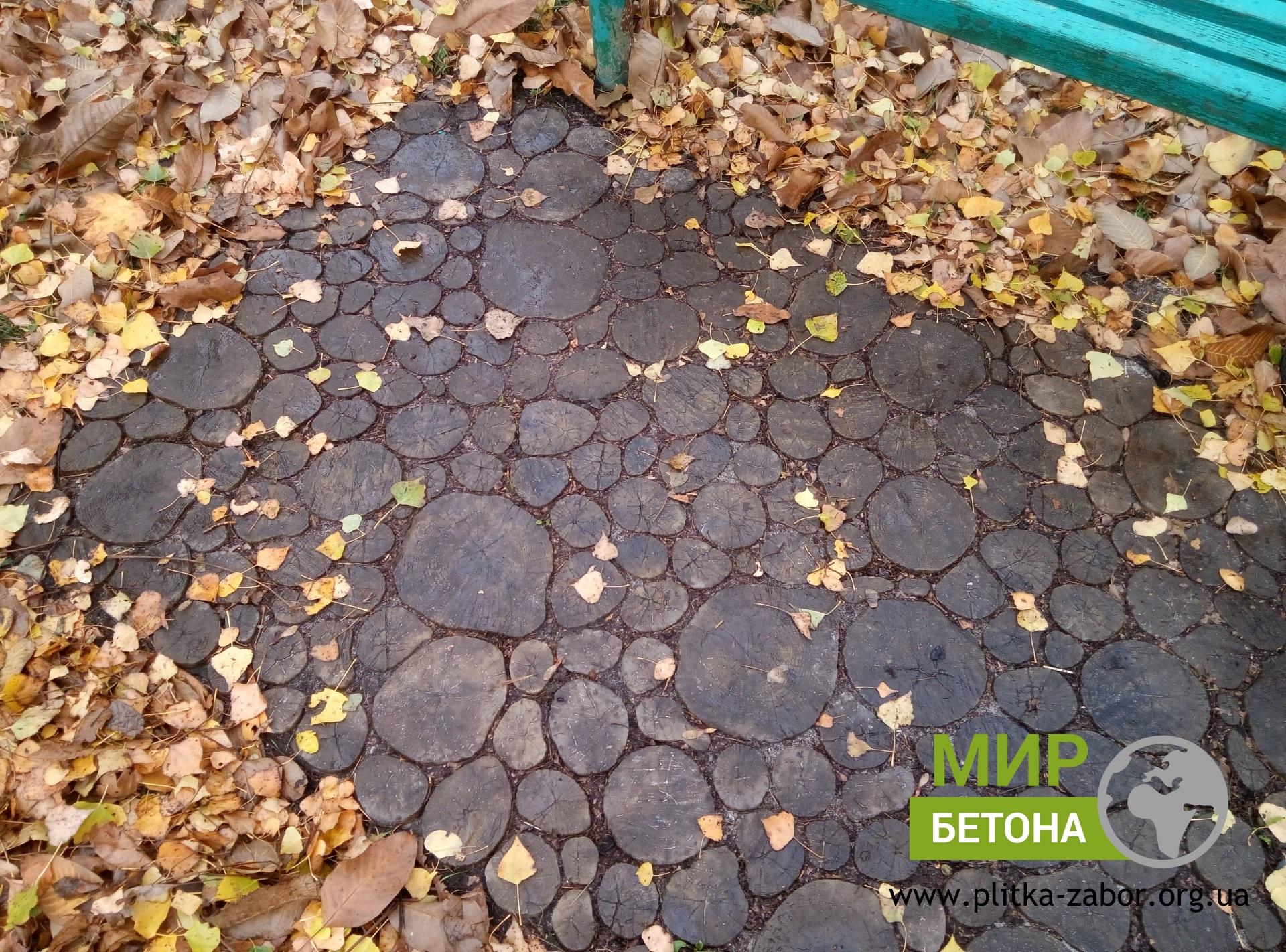 Тротуарная плитка Пеньки из бетона