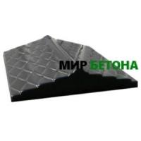 Форма Парапет для забора Чешуя широкая 0,5м