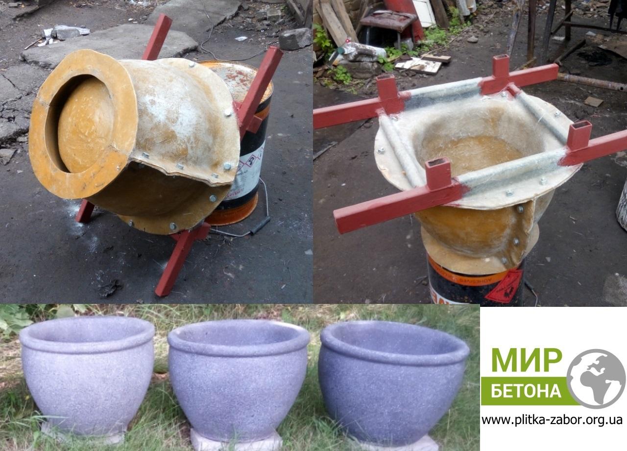 Формы вазонов из бетона купить стена из кирпича и керамзитобетона