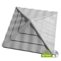 Форма Крышка для столба Волна квадратная