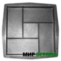 Форма тротуарной плитки Паркет 30х30