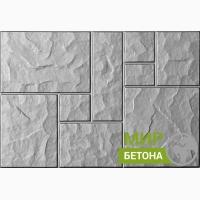 Форма тротуарной плитки 75х50 Колотый камень №03