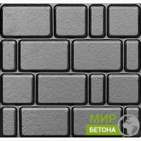 Форма тротуарной плитки 40х40 Старый город шагрень №02