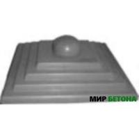 Форма Крышка для столба Четырехступенчатая с полусферой